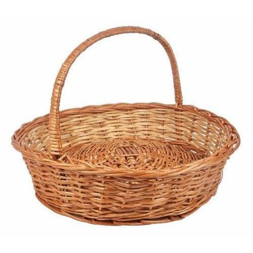 Rounded Handle Bamboo Basket