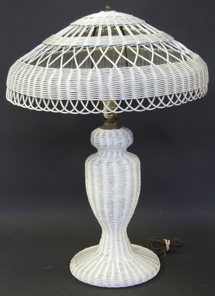 Table Top Cane Lamp