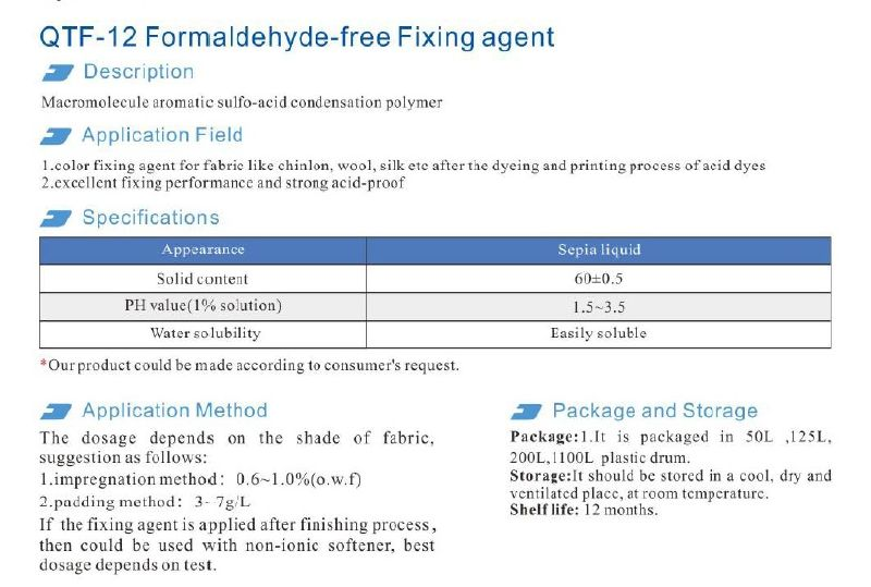 Formaldehyde Fixing Agents - Textile Auxiliary Agents