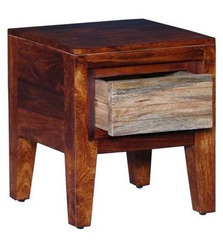 Honey Oak Natural Wood Bedside Table