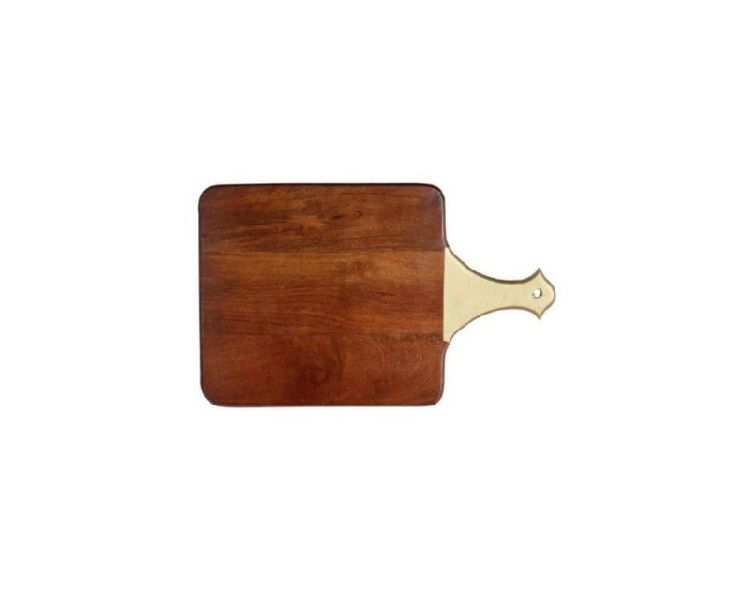 Wooden Chopping Board With Metal Handle