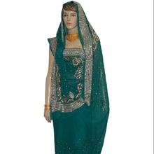 Ethnic Attractive Teal Green Designer Saree