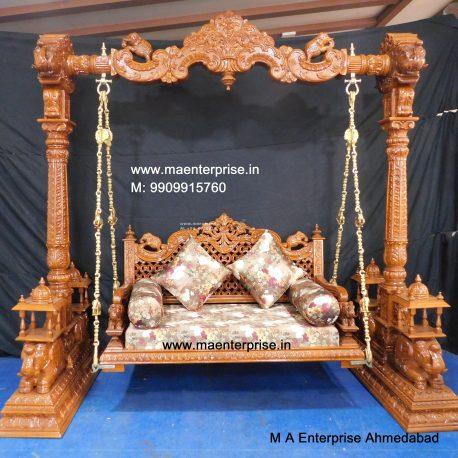Antique Design Wooden Swing Jhula