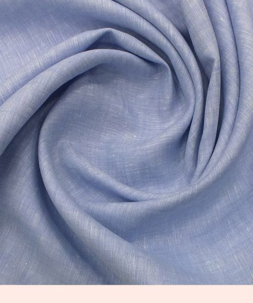 NS Fabric Blue Linen Lea-60*60 Unstitced Shirting Fabric (NS- 525)