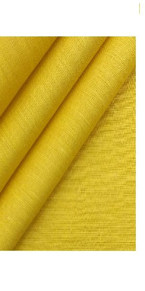 NS Fabric Yellow Pure Linen Lea-60 unstitched shirting Fabric (NS-587)