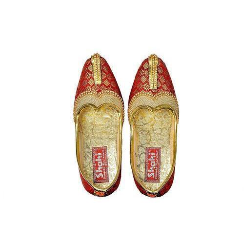 SHAHI PUNJABI FOOTWEAR Boys Designer Mahroon Jutti Mojari Ethnic Footwear (SPF-2001)