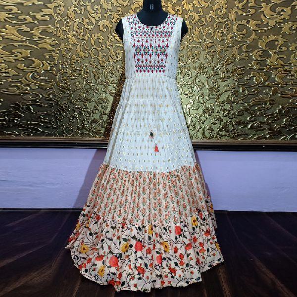 Party Wear Semi Stitched Anarkali Salwar suit Gown