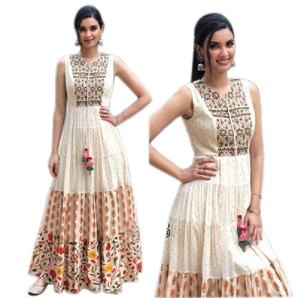 Party Wear Semi Stitched Anarkali Salwar suit Gown (Ab-173)