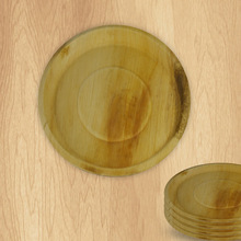 Standard Biodegradable Eco Friendly Acacia Wooden Round Plate