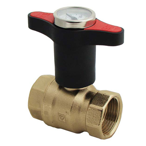 BALL VALVE THREADED WITH THERMOMETER