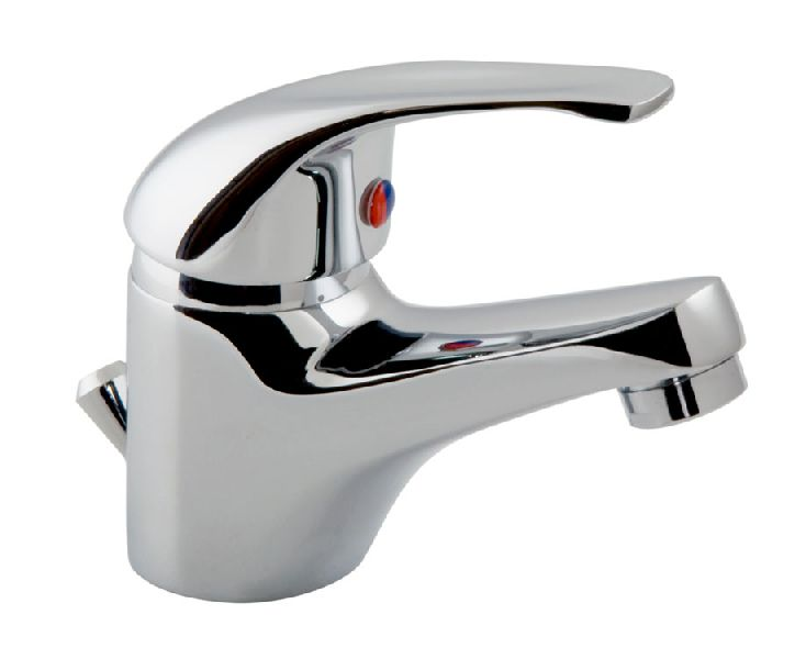 BASIN MIXER WITH POP-UP WASTE BRASS
