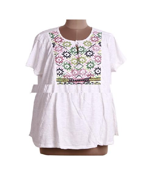 clothes latest custom embroidered blouse women tops