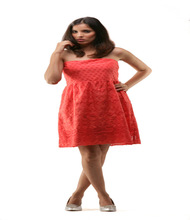 Half Sleeve Split Side Dress