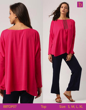 Embroidered Top Casual Woman Tops