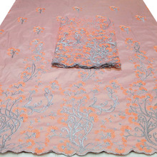 African Peach Color African George Wrapper Fabric