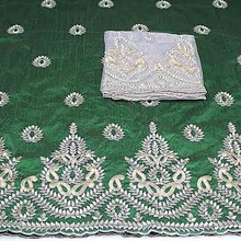 silk lace Embroidery African George Fabric