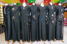 formal black abaya fabric fursan for gown