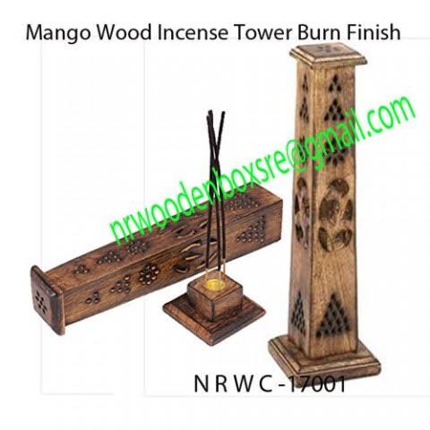 Mango Wood Incense Towers