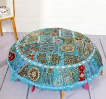 Embroidered Bohemian Ottoman