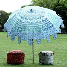 mandala print rajasthani round umbrella