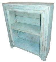 Industrial Open Wooden Sideboard