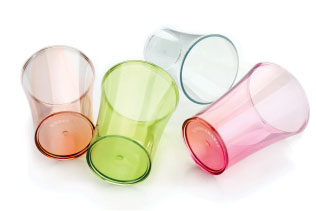 Multi-Color Drinking Glass