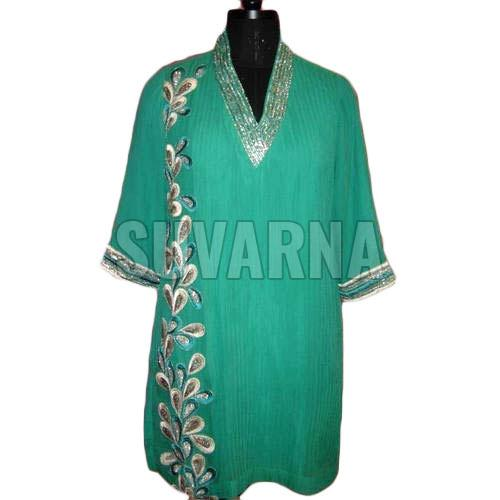 Hand Embroidered Casual Kurti
