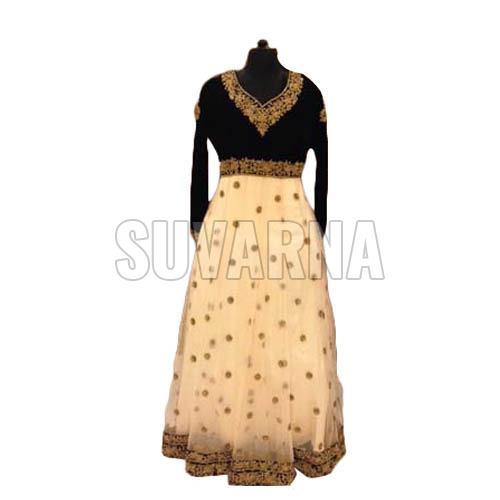 Machine Embroidered Anarkali Suit