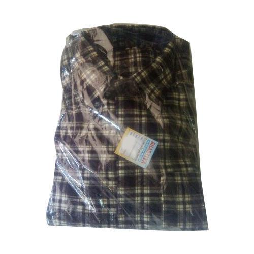 Mens Brown Woolen Shirt