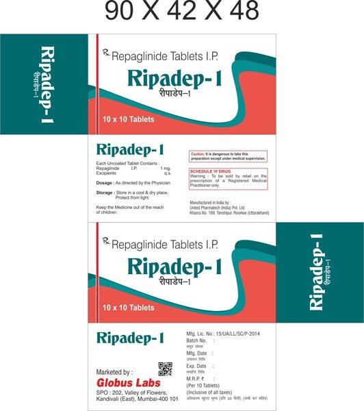 Buy Repaglinide & Metformin Hydrochloride (SR) Tablets from