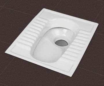 White Squatting Pan Manufacturer in Rajkot Gujarat India by