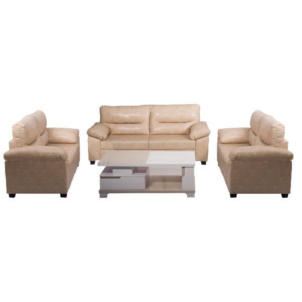 Fine Bharat Lifestyle Legend Leatherette Cream 7 Seater Sofa Set 3 2 2 Bls Legend Leathr Cr 3 2 2 Machost Co Dining Chair Design Ideas Machostcouk