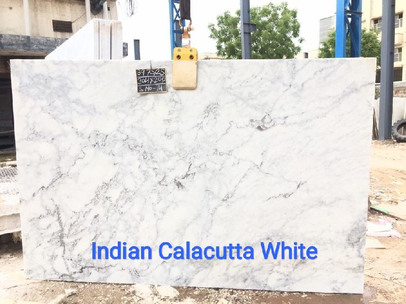 Indian Calacatta White Marble Slabs