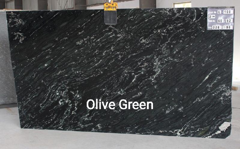 Olive Green Granite Slabs