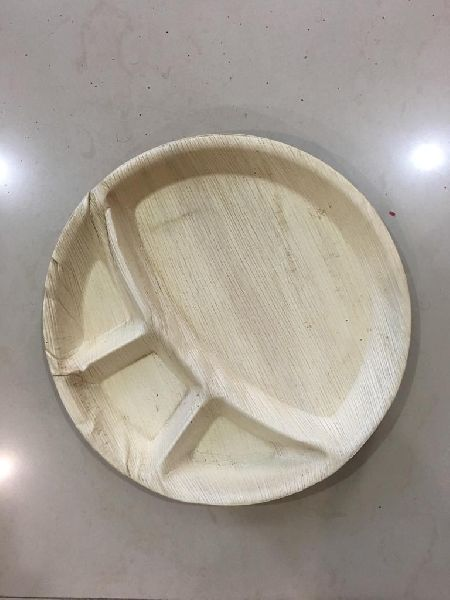 3 Partition Areca Leaf Plate
