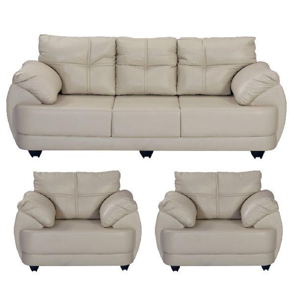 Awesome Bharat Lifestyle Austin Leatherette 3 1 1 Cream Sofa Set Bls Austin Leathr Cr 3 1 1 Machost Co Dining Chair Design Ideas Machostcouk