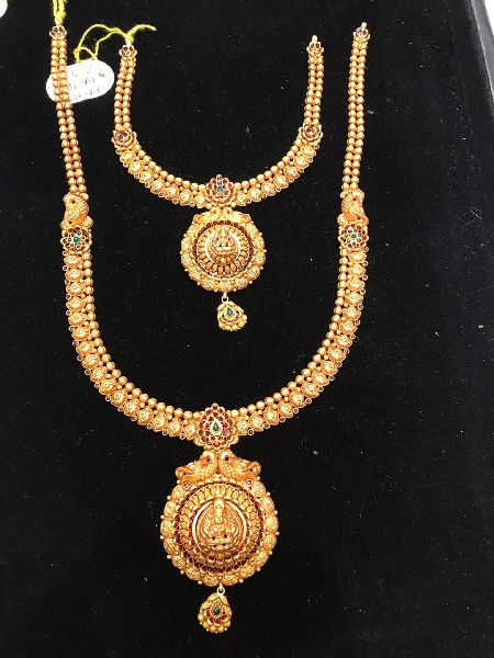 South Indian Traditional Gold Necklace Set
