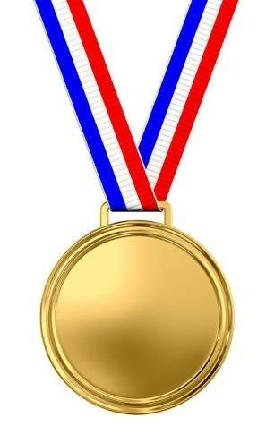 Tri Color Medal Grosgrain Ribbon (Tri Color gross grain ribbons)