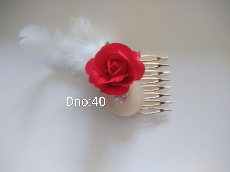 Floral Hair Comb Clips