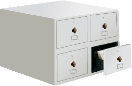 Library Index Card Cabinet (JCIC 4)