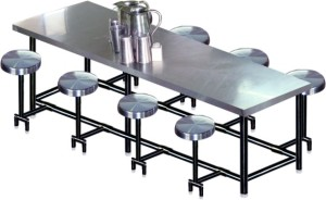 Stainless Steel Canteen Table (Model No. JDT-703 A)