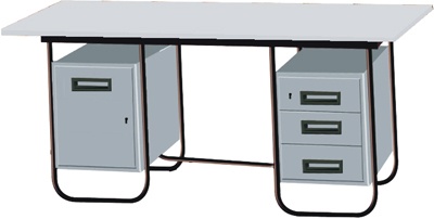 Stainless Steel Office Desk (JED 214 (A))