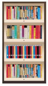 Wooden Bookcase (JSF 114A)