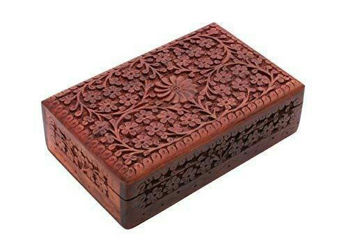 Wooden Carved Jewellery Boxes