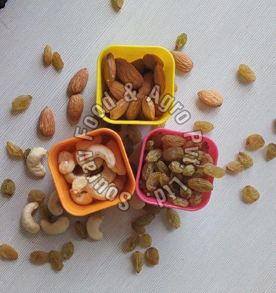Raisin,Cashew nuts, Almonds