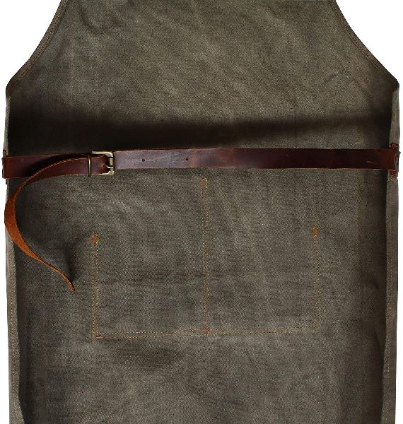 Leather Apron for Men and Women with Leather Pocket Welding Hairstylist Tool Chef Kitchen Apron