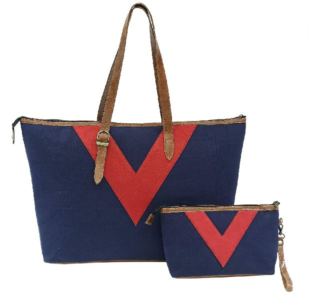 Large Canvas Handmade Tote Shoulder Hobo Bags for School Work Travel and Shopping Handbag For Women (YE-07)