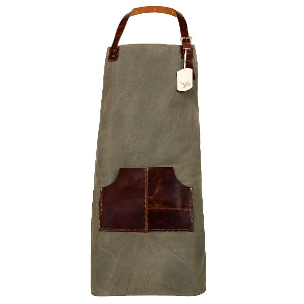 Leather Apron for Men and Women with Leather Pocket Welding Hairstylist Tool Chef Kitchen Apron (YE-02)