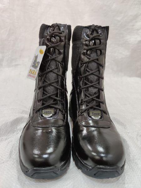 Leather Commando Boots