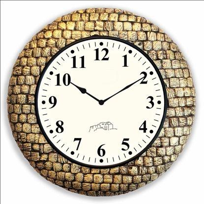 Wooden Brass Antique Wall Clock